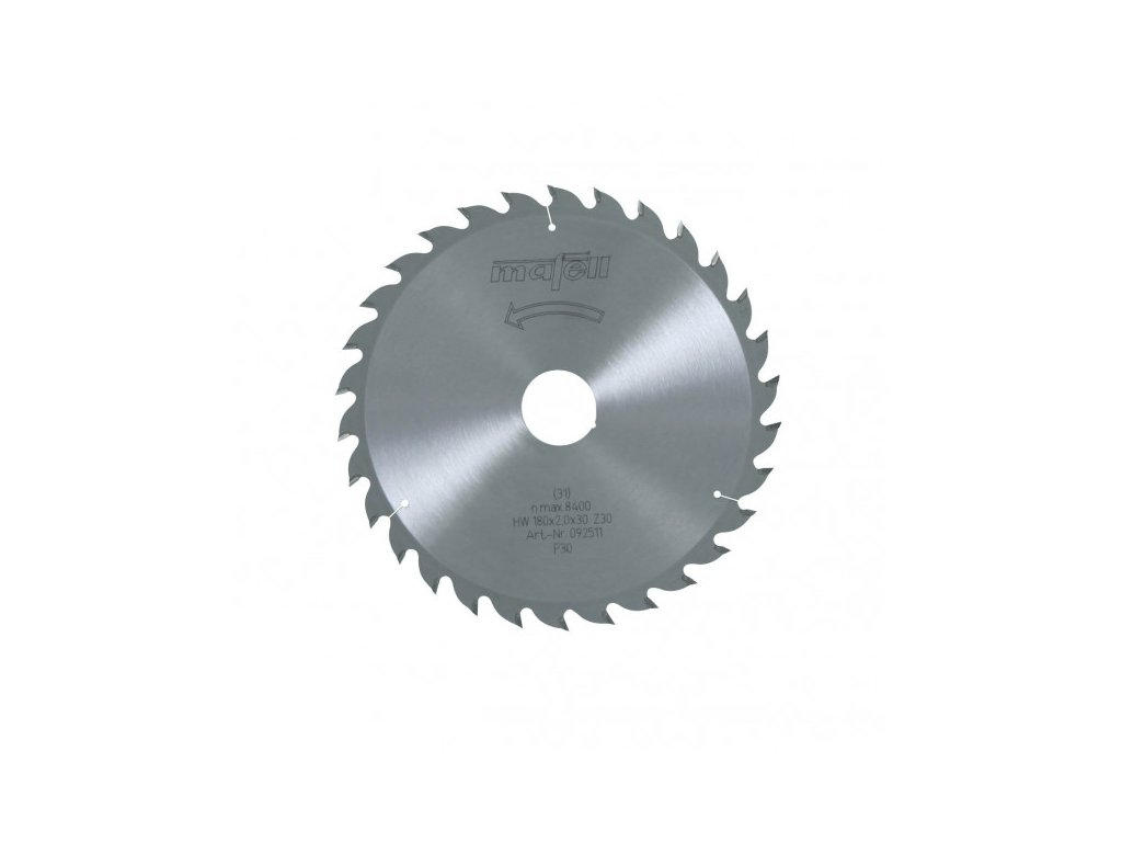 Pilový kotouč-HM, 180 x 1,2/2,0 x 30 mm, Z 30, WZ