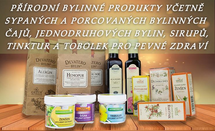 Banner přírodní produkty