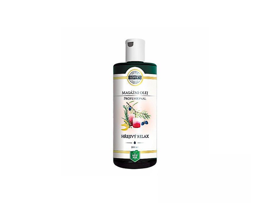Hřejivý relax - masážní olej