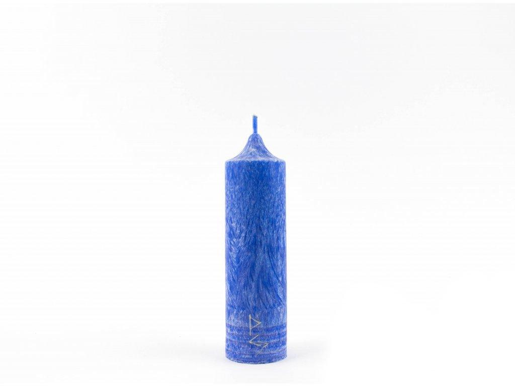 14 x 4 cm 6.čakra - Čakrová svíce modrá