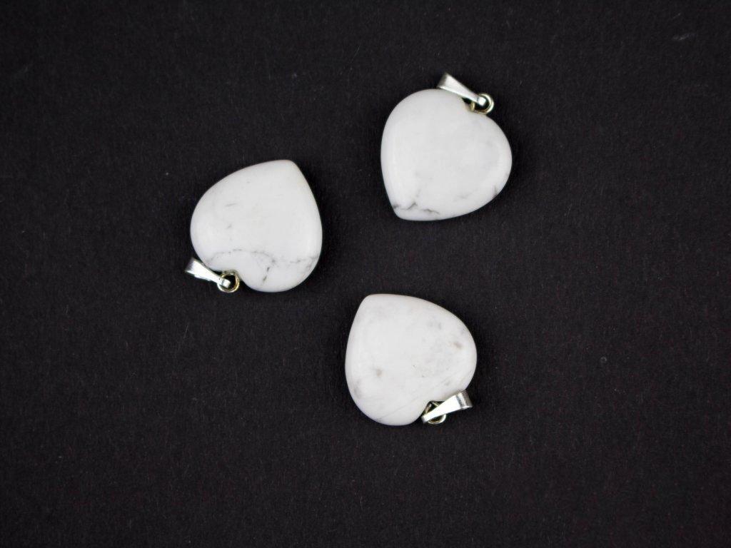 Přívěsek srdíčko - Magnezit