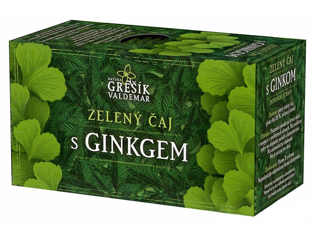 Zelený čaj s ginkgem