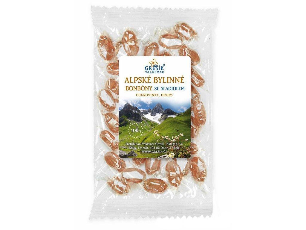 Alpské bylinné se sladidlem