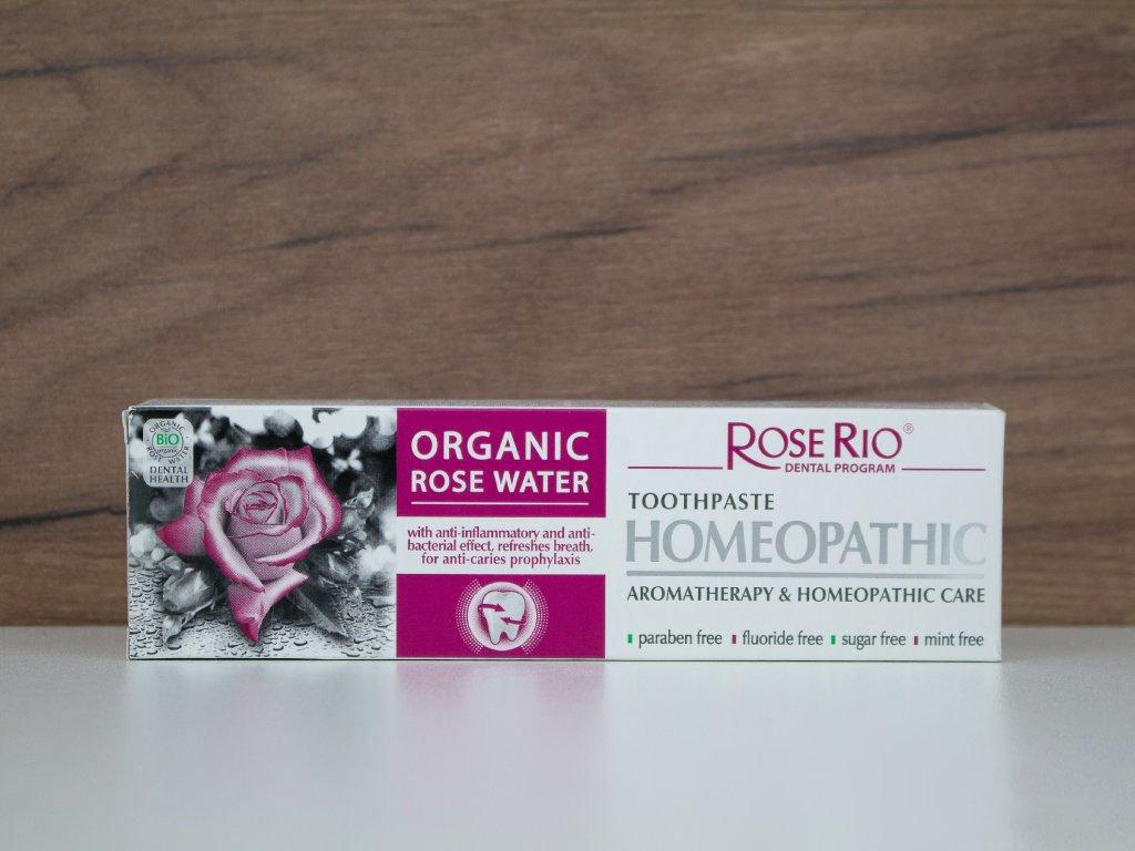 ROSE RIO Homeopatická zubní pasta - Růže