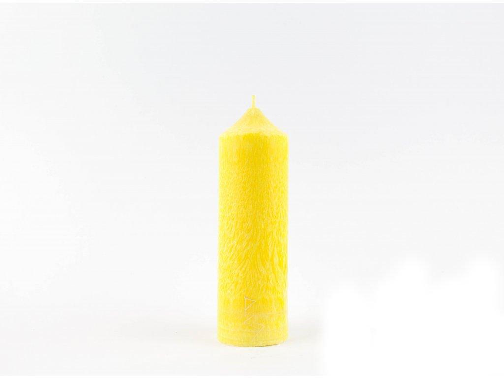 16 x 5 cm - 3.čakra - Čakrová svíce žlutá