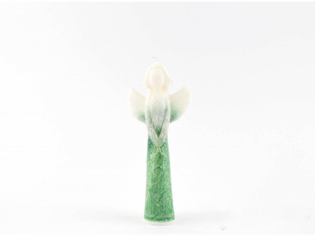 Anděl přání s hvězdou 16 cm zelený