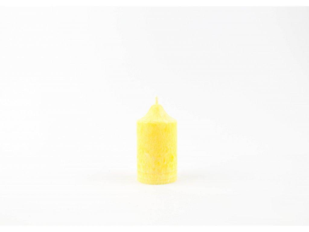 8 x 4,5 cm Rituální svíce žlutá