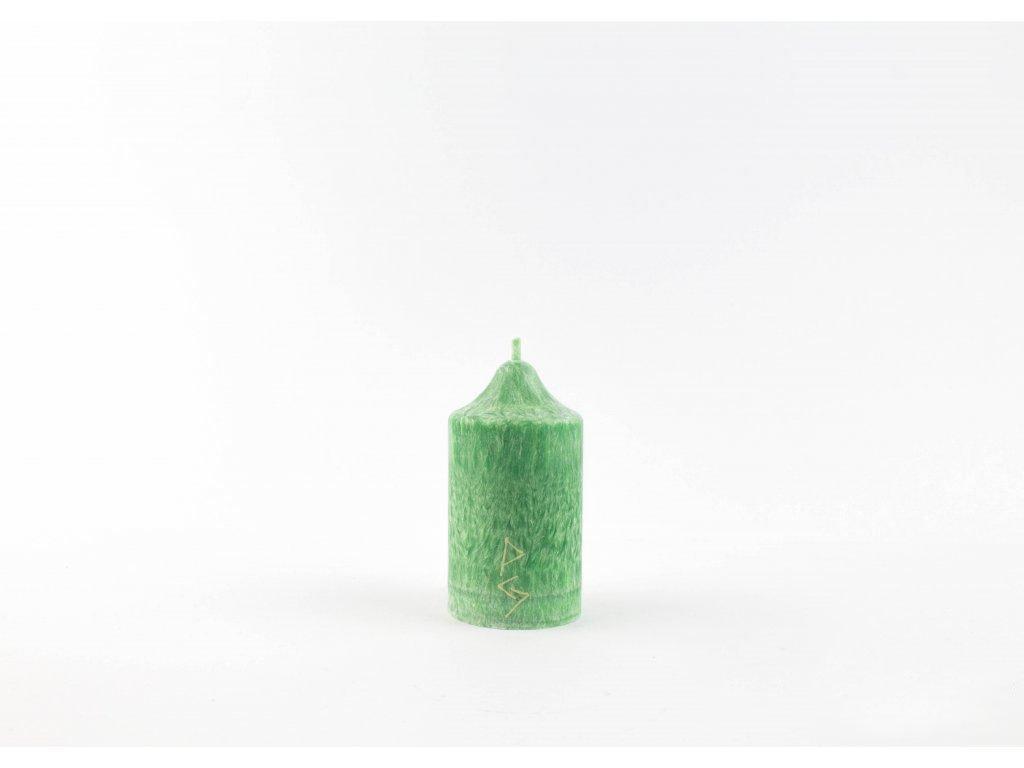 8 x 4,5 cm Rituální svíce zelená