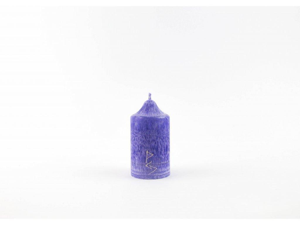 8 x 4,5 cm Rituální svíce fialová