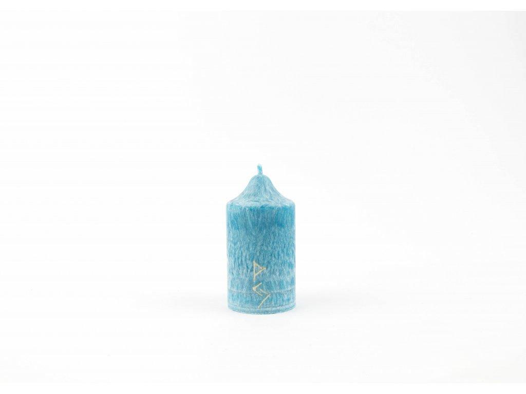 8 x 4,5 cm Rituální svíce tyrkysová