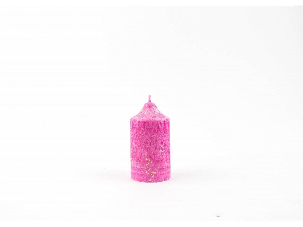 8 x 4,5 cm Rituální svíce růžová