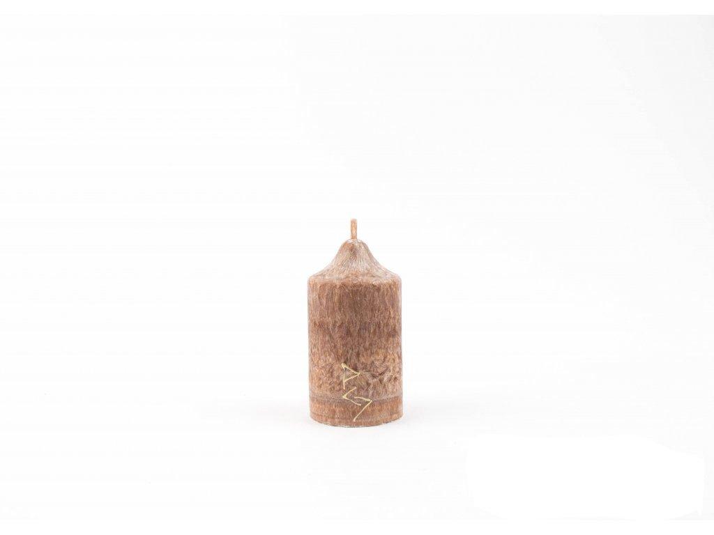 8 x 4,5 cm Rituální svíce hnědá
