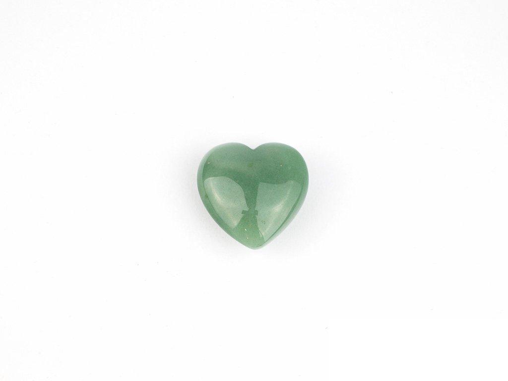 Srdce hmatka - avanturín zelený