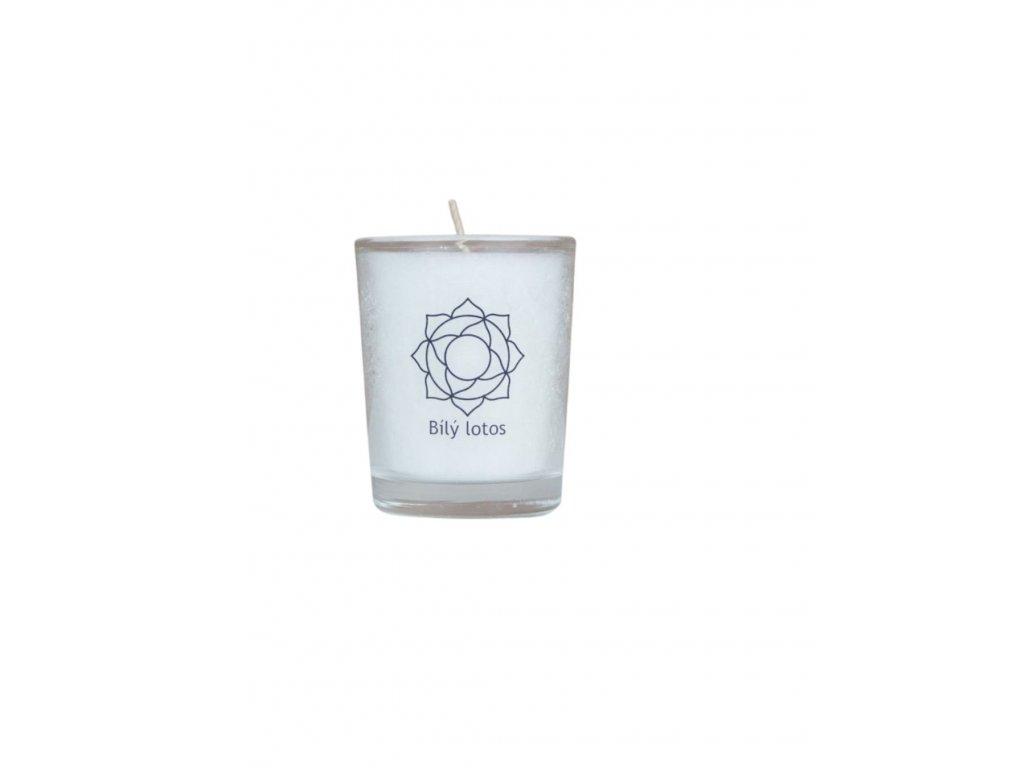 MINI čakrová svíce - bílá