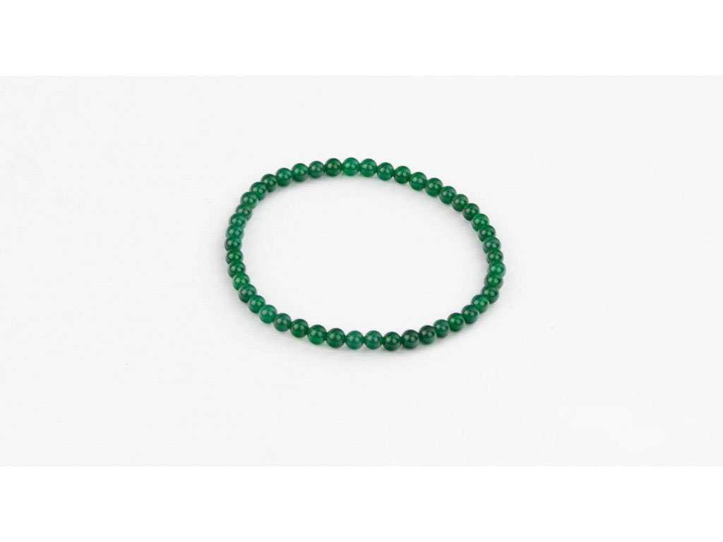 Achát zelený (tmavý) - 4mm
