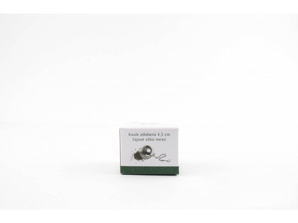 Koule zdobená 4,5 cm - čajové sítko nerez