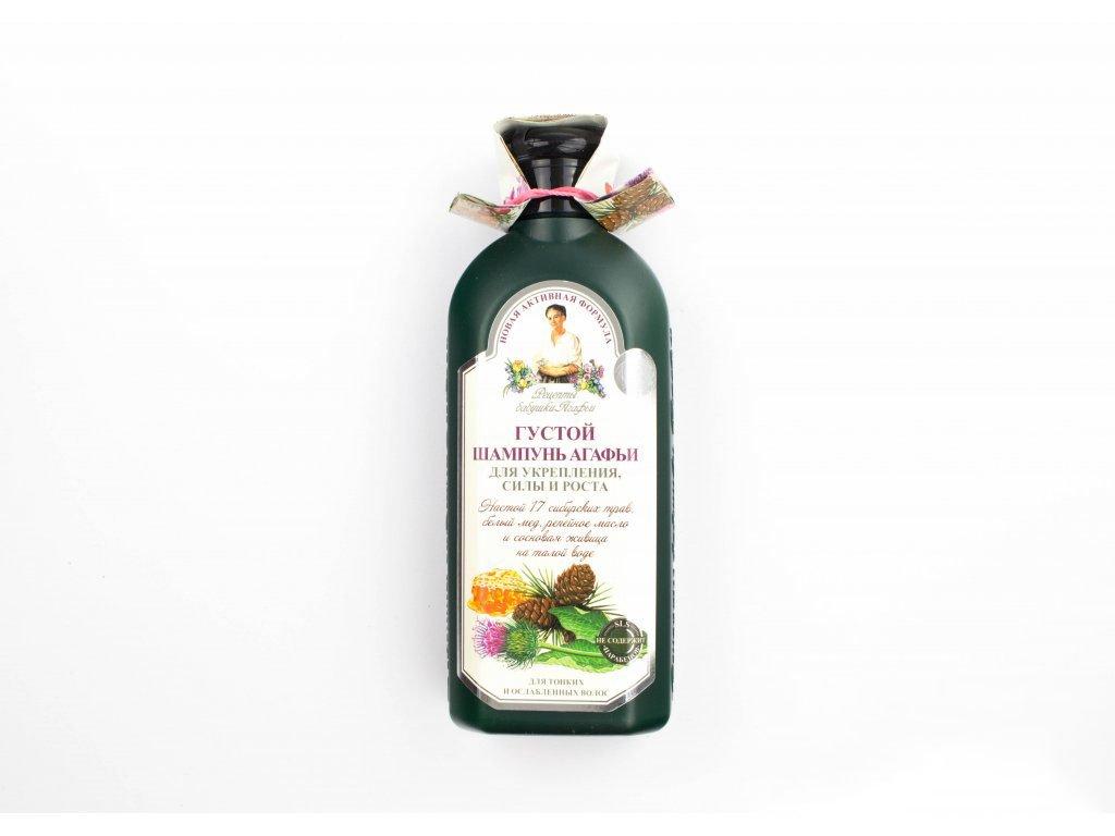Recepty Agáthy: Hustý šampon Agáty na zpevnění, posílení, růst. Tenké a slabé vlasy 350ml