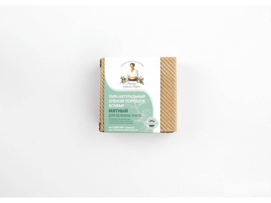 """Recepty Agáthy: Přírodní zubní prášek na čištění zubů s mátou """"Bělící"""" 120ml"""