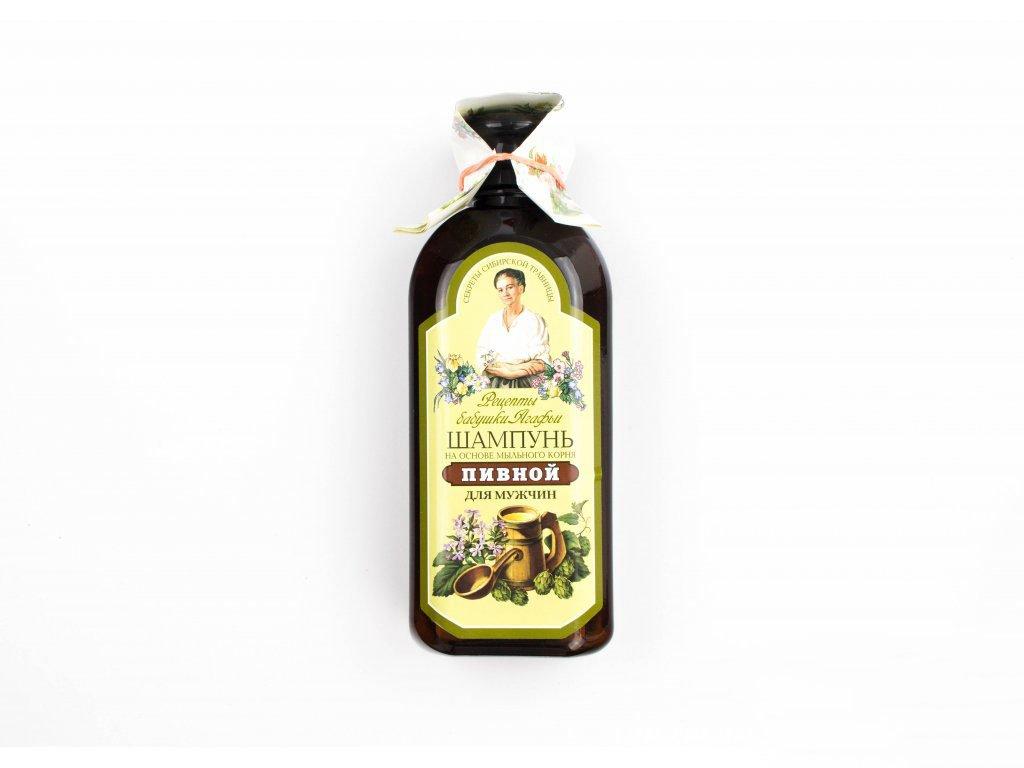 Recepty Agáthy: Šampón pro muže s pivním droždím a mydlicí 350ml