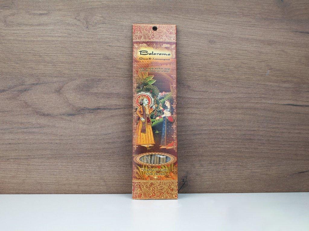 Vonné tyčinky - BALARAMA - hřebíček a lemongrass 10ks