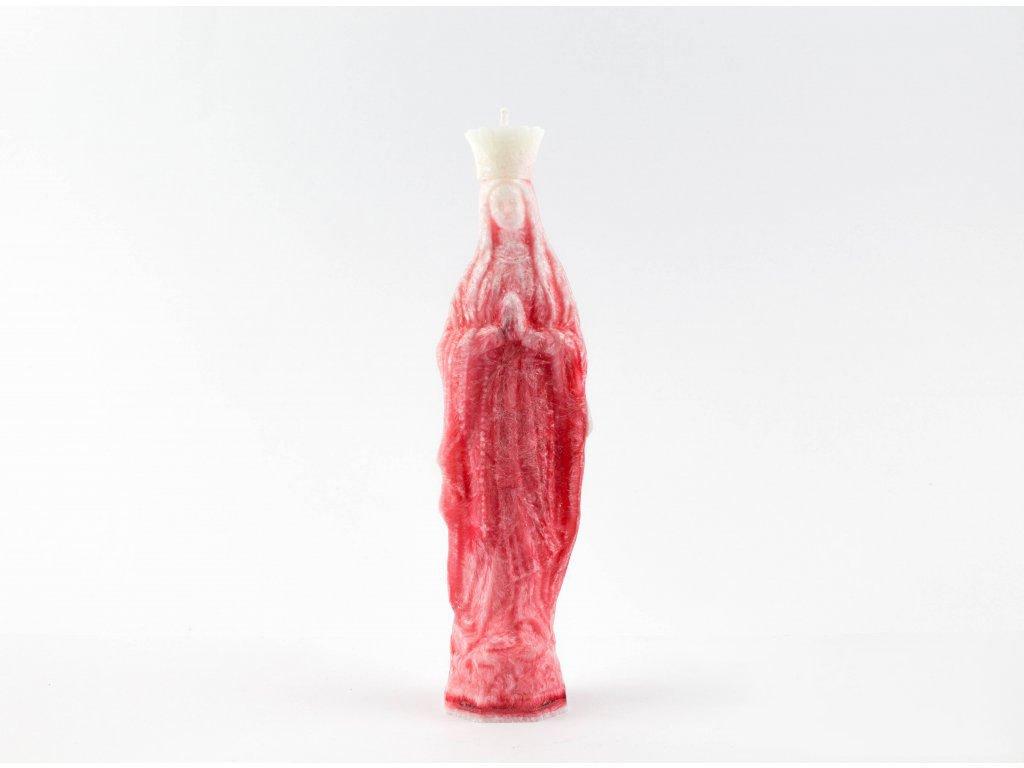 Svíce - Panna Maria (červená)
