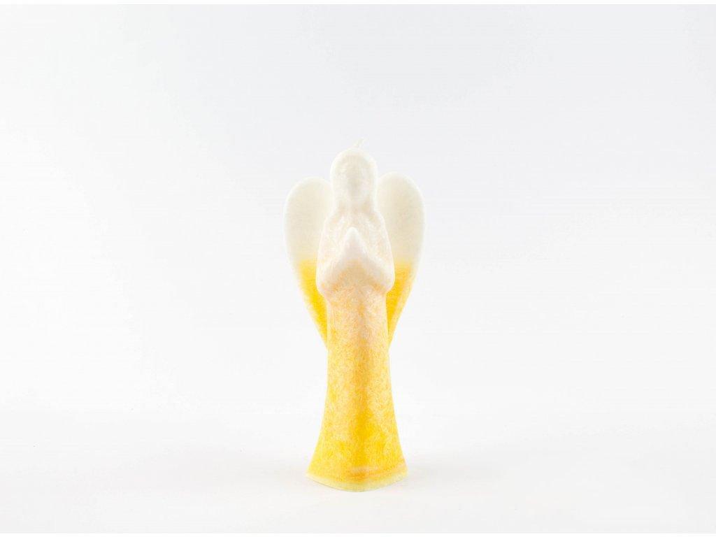 Anděl radim 15 cm žlutý