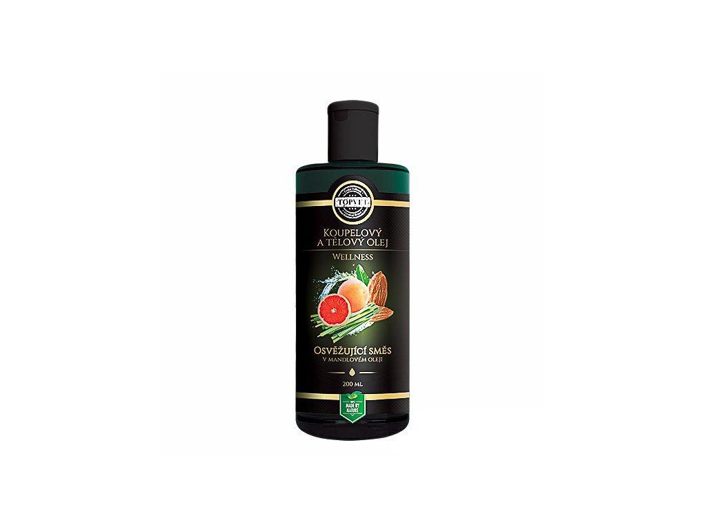 Osvěžující směs v mandlovém oleji