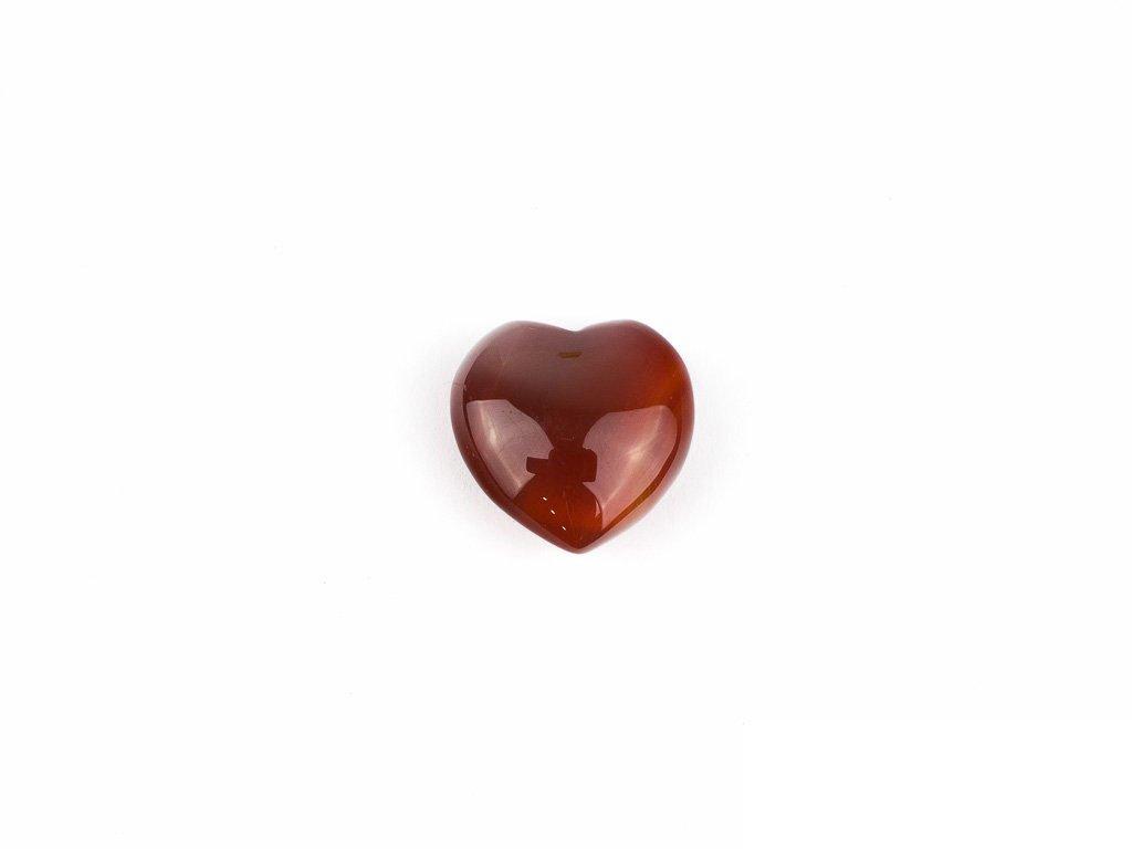 Srdce hmatka - karneol