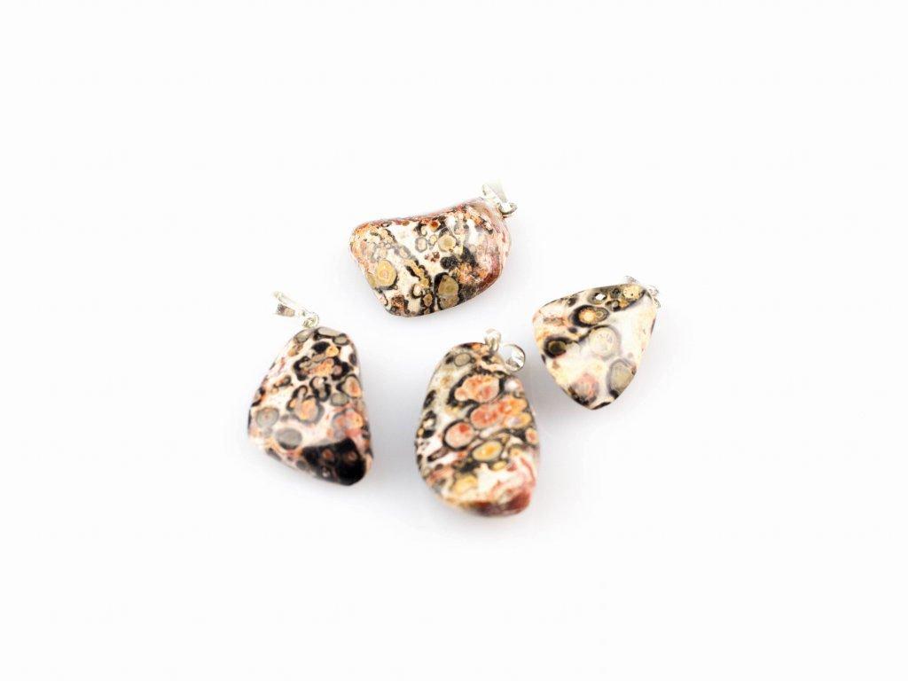 Přívěsek valounek - Jaspis leopardí