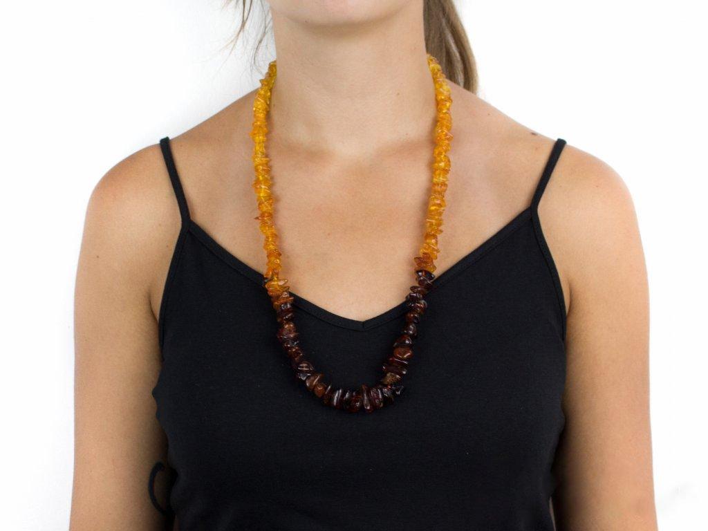 Jantarový náhrdelník - BIG