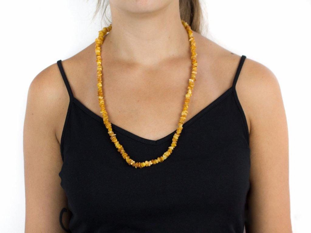 Jantarový náhrdelník - světlý