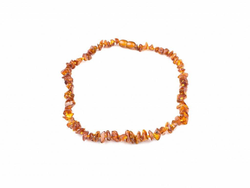 Jantarový náhrdelník dětský - medový