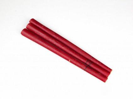 Čakrová tělová svíce HOXI - červená - 1ks