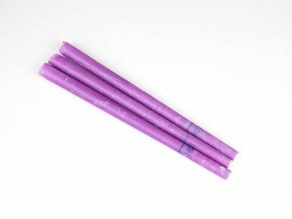 Čakrová tělová svíce HOXI - fialová - 1ks