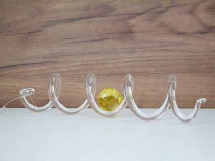 Křišťálová spirála velká se žlutým krystalem