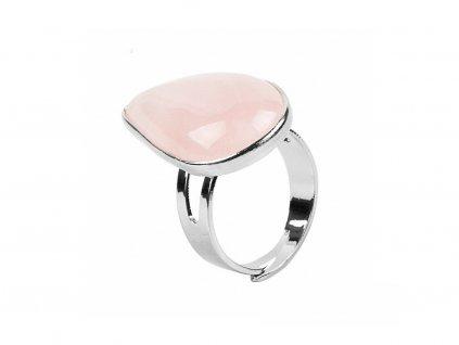 CSJA Reiki Healing Natural Stone Water Drop Rings for Women Mens Finger Ring Purple Pink Quartz.jpg 640x640