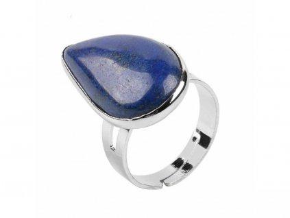 CSJA Reiki Healing Natural Stone Water Drop Rings for Women Mens Finger Ring Purple Pink Quartz