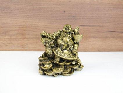 Bůh štěstí na želvě s dračí hlavou - velký