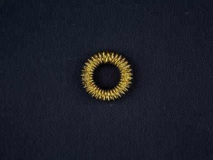 Masážní prsten - zlatá barva