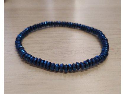 Pokovený hematit blue - 4mm