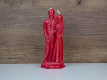 Rituální párová svíce - červená