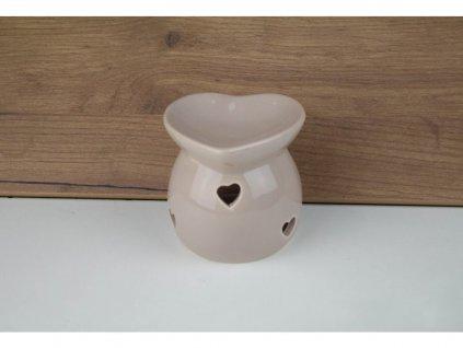 Malá aromalampa (srdce) - hnědá