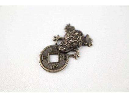 Žabička s mincí tmavá
