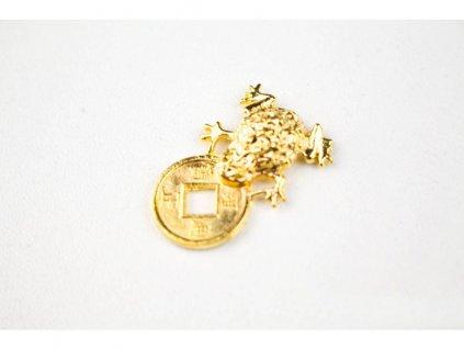 Žabička s mincí zlatá