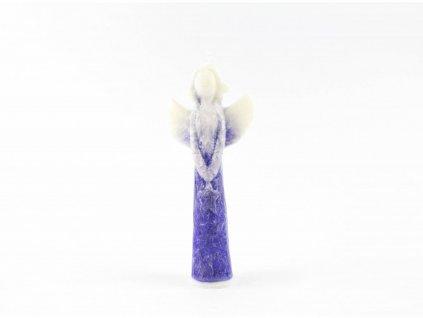 Anděl přání s hvězdou 16 cm fialový