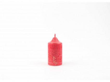 8 x 4,5 Rituální svíce červená