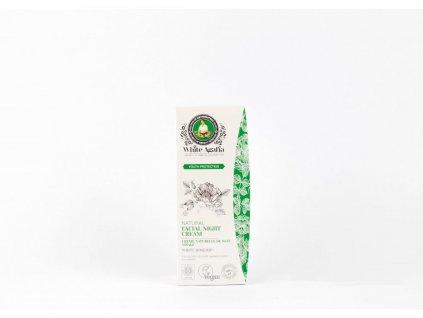 """White Agafia: Přírodní noční pleťový krém """"Zachování mládí"""" (do 35 let) 50 ml"""