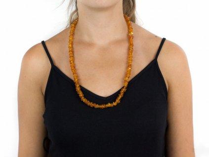 Jantarový náhrdelník - medový