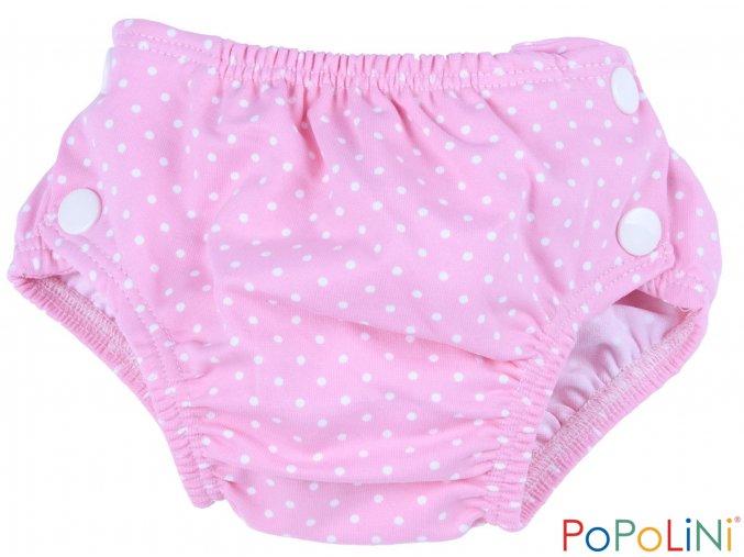 Plenkové plavky Popolini růžové s puntíčky