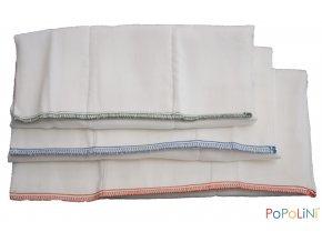 Vícevrstvé skládané plenky Popolini, 10 ks, bílé,  vel. 2 (M), 34x47 cm